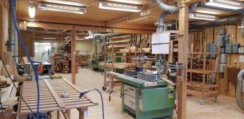 Interiörbild på Brålanda Snickerifabrik